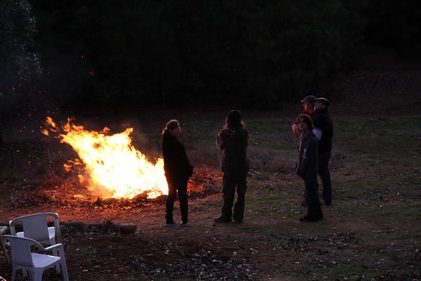 Bonfire at Craig's House, Nov. 28, 2009