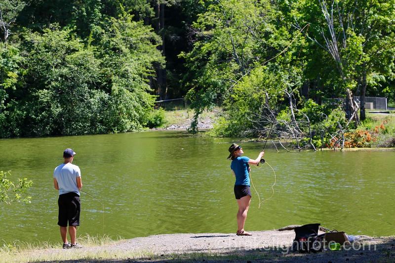 Fishing at Beaver Lake