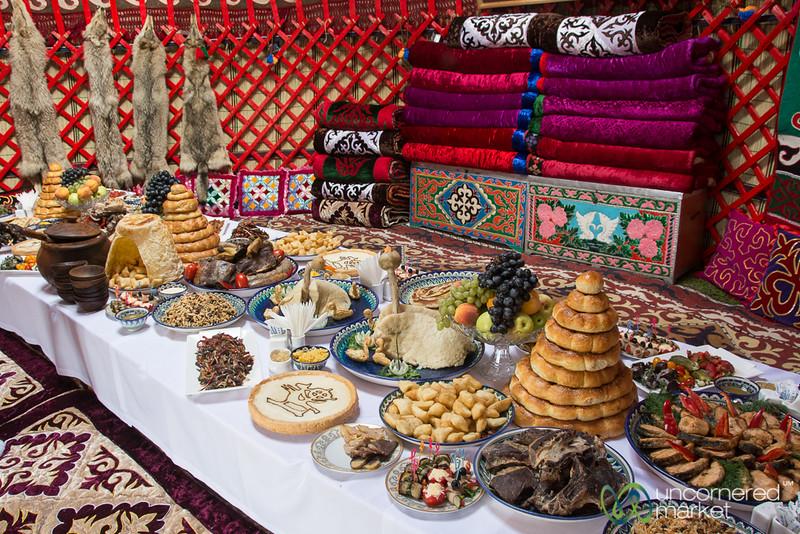 Kyrgyz Feast Inside a Yurt - Kyrchyn Cultural Festival, World Nomad Games 2016
