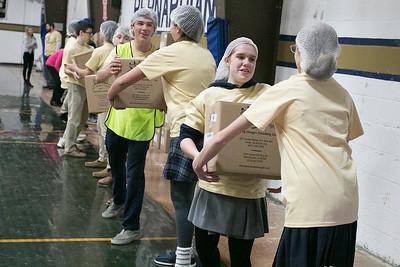 Saints Against Hunger Meal Packaging Event. Nov. 20, 2019