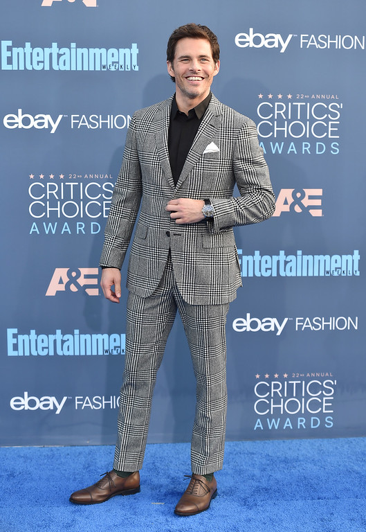 . James Marsden arrives at the 22nd annual Critics\' Choice Awards at the Barker Hangar on Sunday, Dec. 11, 2016, in Santa Monica, Calif. (Photo by Jordan Strauss/Invision/AP)