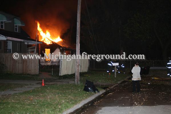 10/31/08 - Flint house fire, next to 2223 Millett