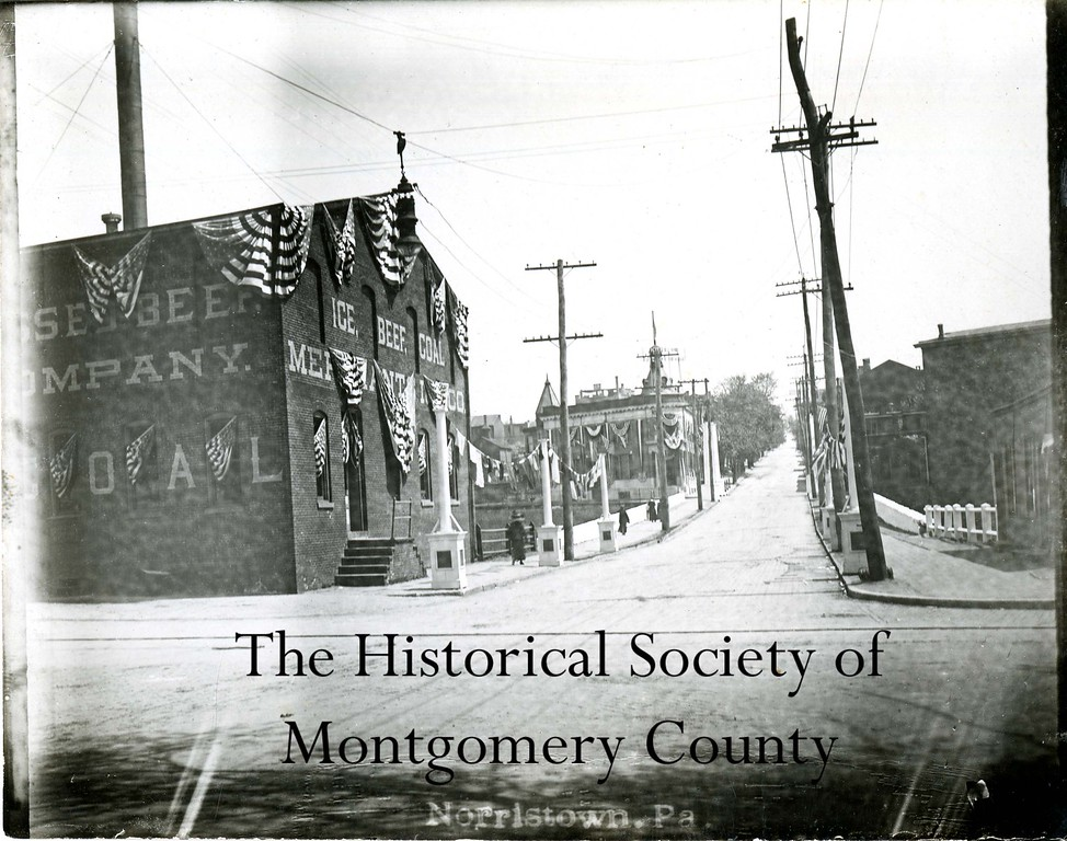 . This undated photo from the Historical Society of Montgomery County shows the intersection of Markley and Marshall streets in Norristown, looking east onto Marshall.