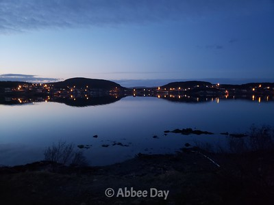 Reflections of twilight over St. Anthony Harbour