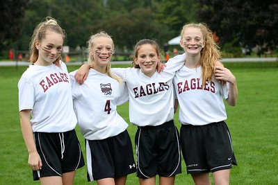 AMHS M.S. Girls Soccer Put On Their Game Faces photos by Gary Baker