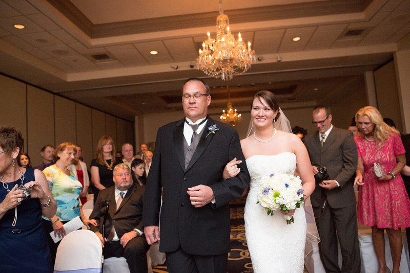 Wedding ceremony at the Radisson Hotel in Rockford, IL. Wedding photographer - Ryan Davis Photography - Rockford, Illinois.