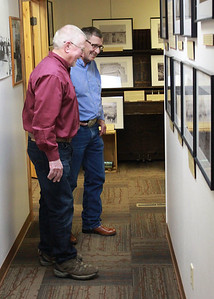 """Don Matthesen and Perry Beguin learn about """"Cattle Kate"""""""