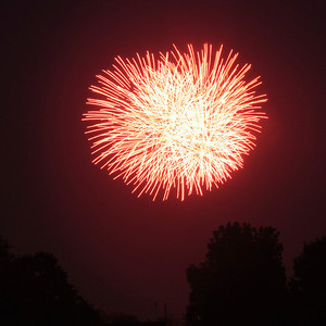Fireworks, 4th of July 2012 in Wilmington Ohio