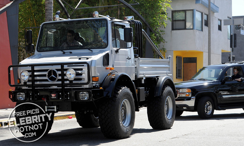 EXC: Arnold Schwarzenegger Doesn't Do Small Driving Custom Mercedes UNIMOG!