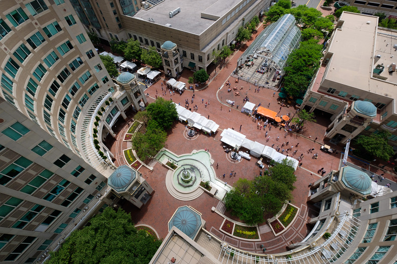 Aerial view of Reston Town Center Market Square