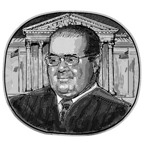 Justice Antonine Scalia; from the Claremont Review of Books, Winter 2019