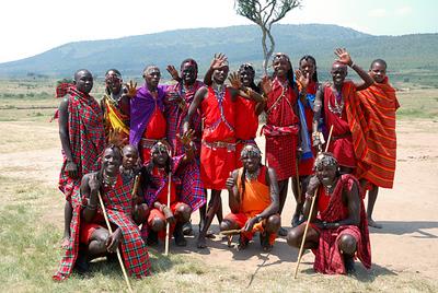 The Masai village