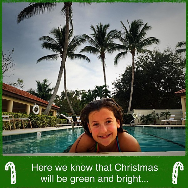 Not exactly Hawaii, but we will take it! Merry merry to all!!