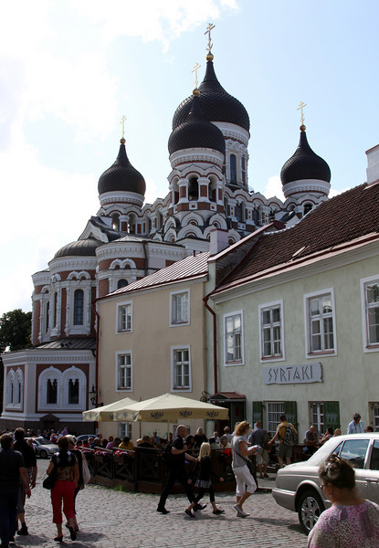 Toompea - Alexandr Nevsky Cathedral viewed from the rear.