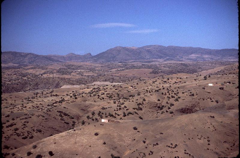 heading south through the desert