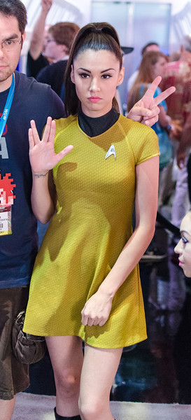 Star Trek cosplay model at E3 2012