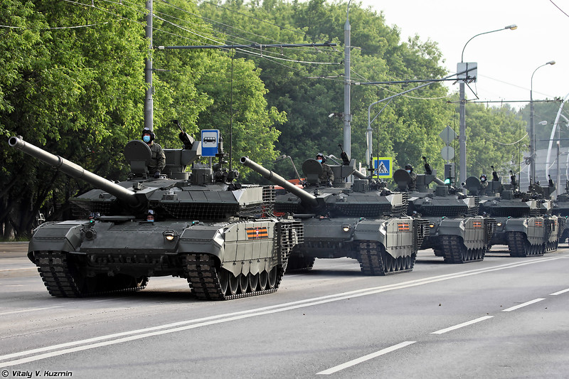 June 17th night rehearsal of 2020 Victory Day Parade in Moscow
