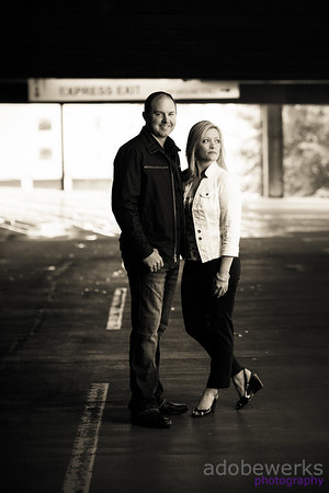 Mark & Christie Engagement Sepia