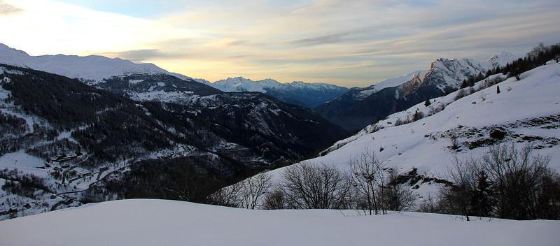 Alpine snow landscapes