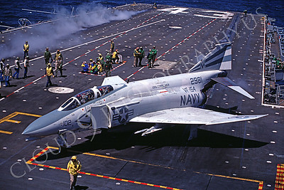 US Navy McDonnell Douglas F-4 Phantom II Airplane Aircraft Carrier Scene Pictures