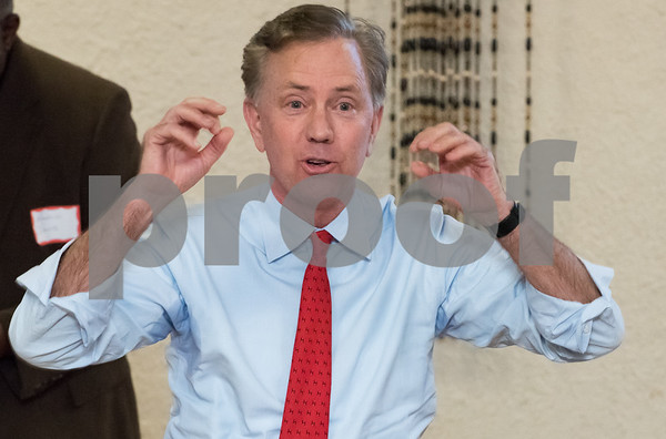 03/15/18 Wesley Bunnell | Staff Candidate for Governor Ned Lamont speaks at the Pulaski Club on Thursday evening as he along with other Democratic candidates for state office met with the Democratic Town Committee as well as New Britain residents.
