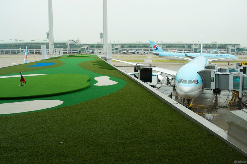 Stopover in Korea for a few hours. They sure do love their golf.