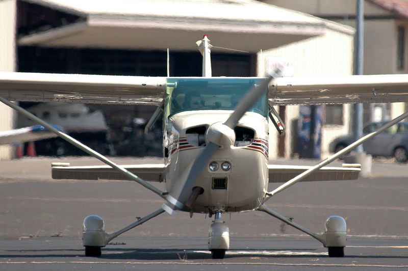 Gary & Sara Kling's plane, a Cessna 172 with a STOL (short takeoff & landing) conversion and 180hp engine.