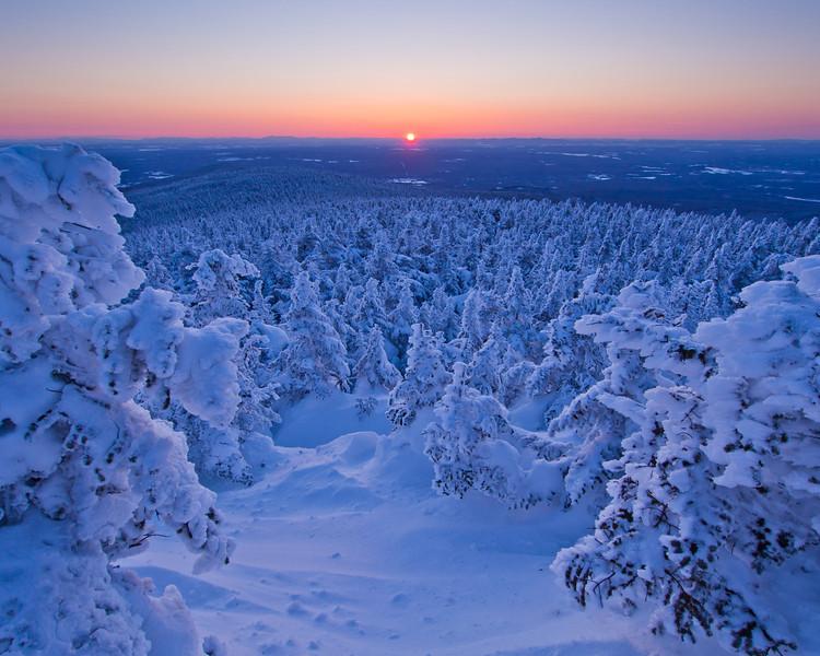 Coucher de soleil au sommet du mont Mégantic