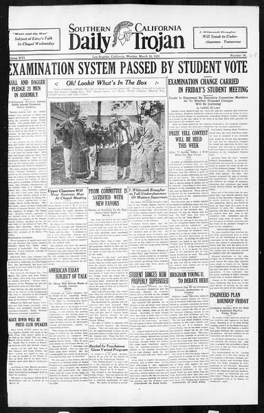 Daily Trojan, Vol. 16, No. 69, March 16, 1925