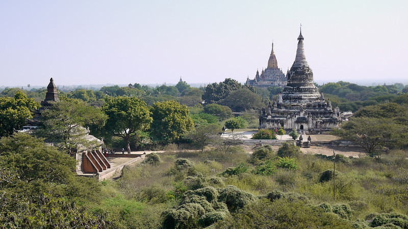 Temples and views from Shwegugyi in Bagan, Burma (Myanmar)