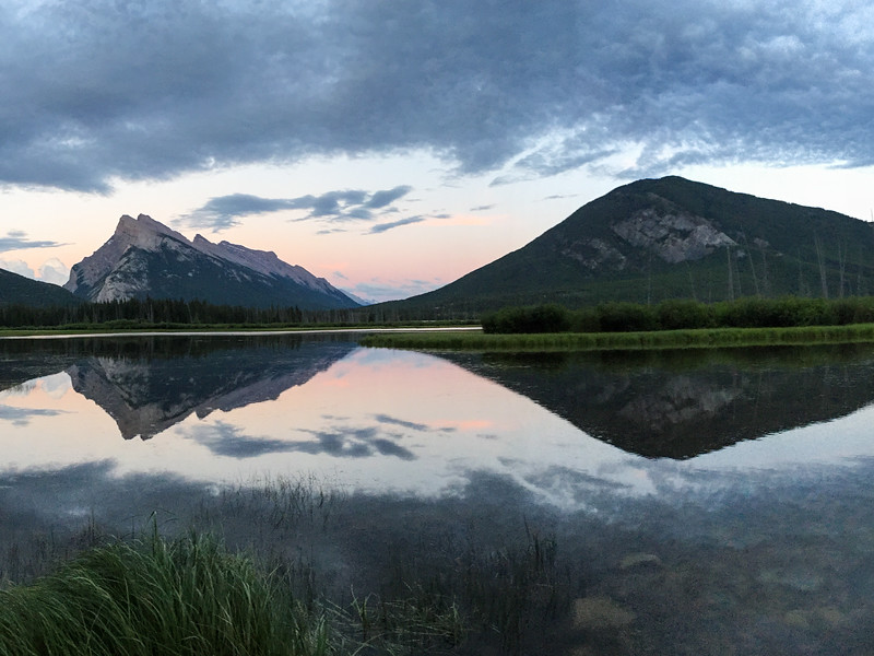 Another one of my favorite spots in Banff is just outside the town of Banff (or rather, it's basically part of town).   Here is sunset from 2nd Vermillion Lake