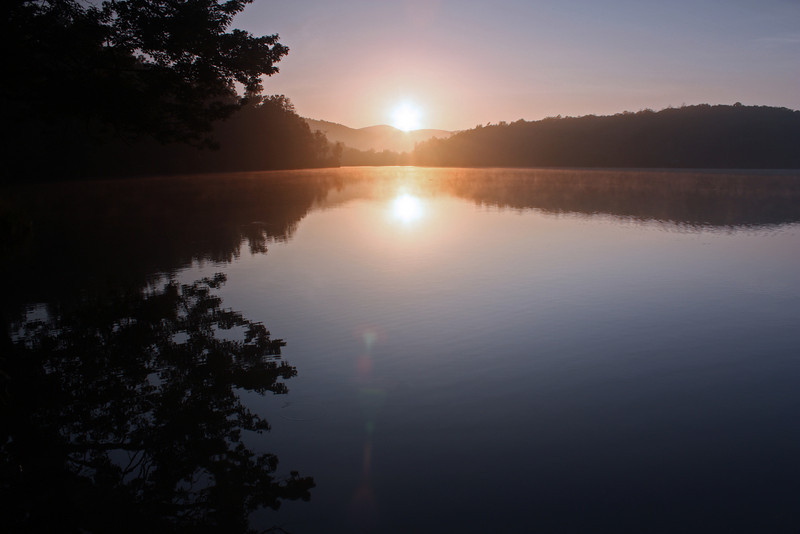 June Sunrise at Price Lake on the Blue Ridge Parkway