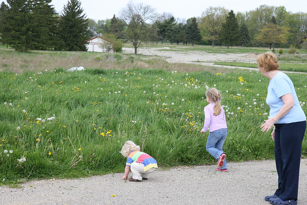 Kids in weeds on Mother's Day