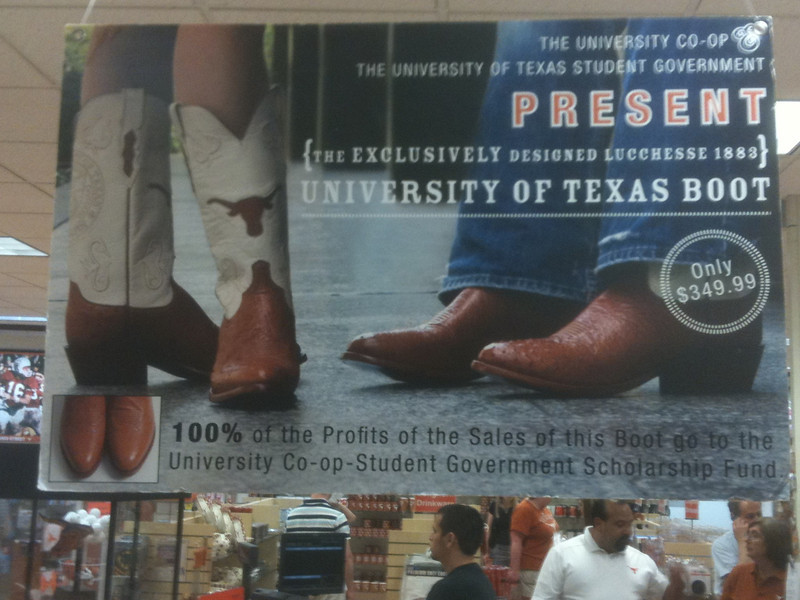 ....and those UT Cowbot Boots, only $349.99!  What a bargain!