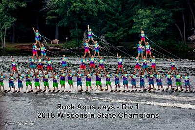 Waterski - Rock Aqua Jays - State - July 22, 2018