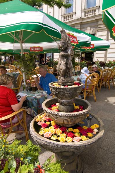 Poland, Cracow, restaurant on Rynek Glowny