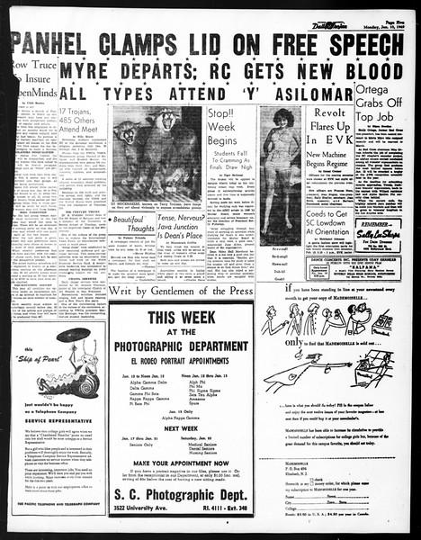 Daily Trojan, Vol. 40, No. 72, January 10, 1949