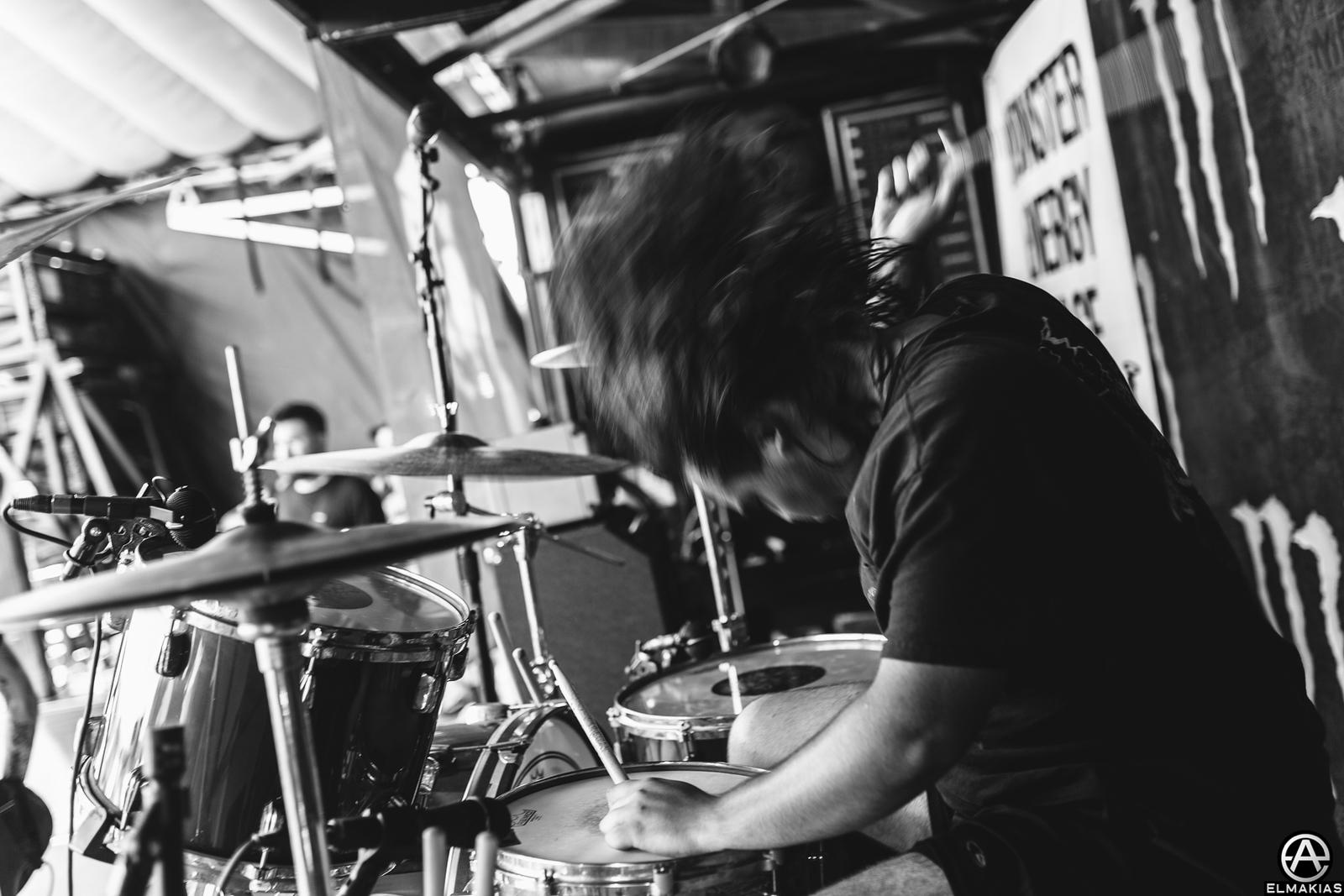 Connor Denis of Being As An Ocean live at Vans Warped Tour 2015 by Adam Elmakias
