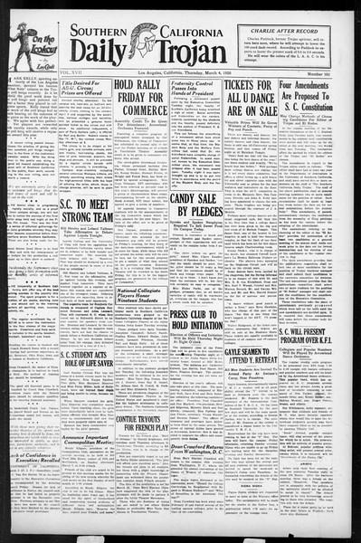 Daily Trojan, Vol. 17, No. 101, March 04, 1926