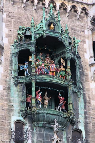 Rathaus-Glockenspiel in Marienplatz Munich, 04/04/2019 This work is licensed under a Creative Commons Attribution- NonCommercial 4.0 International License