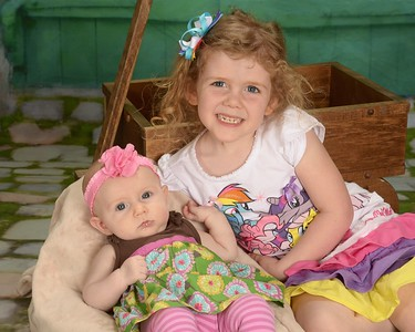 Kenzie and Reagan's School Pictures (April 2015)