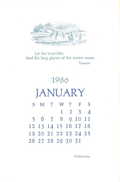 January, 1986, Widdershins