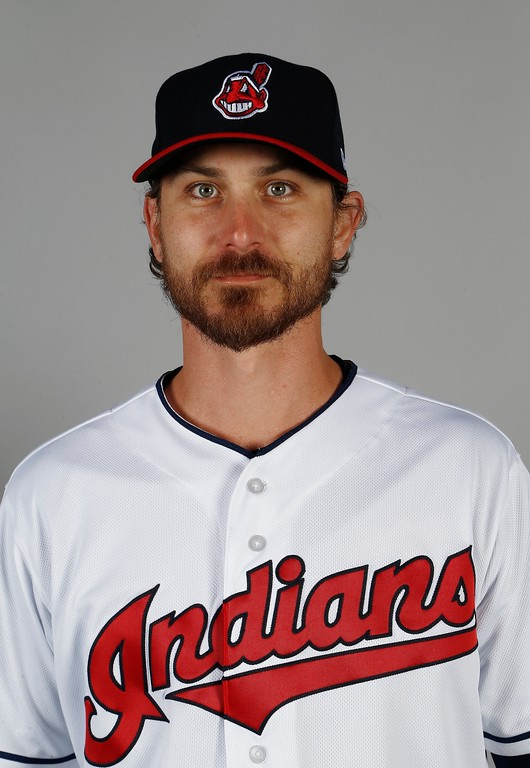 . Cleveland Indians pitcher Josh Tomlin poses for a picture on photo day at the team\'s baseball spring training facility Friday, Feb. 24, 2017, in Goodyear, Ariz. (AP Photo/Ross D. Franklin)