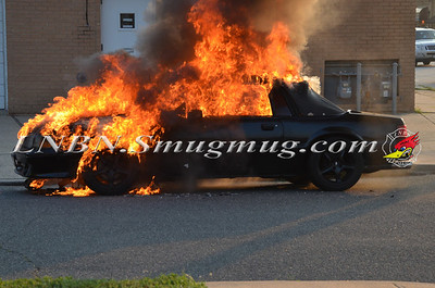 Wantagh F.D. Car Fire Merrick Rd & Beech St. 7-17-13