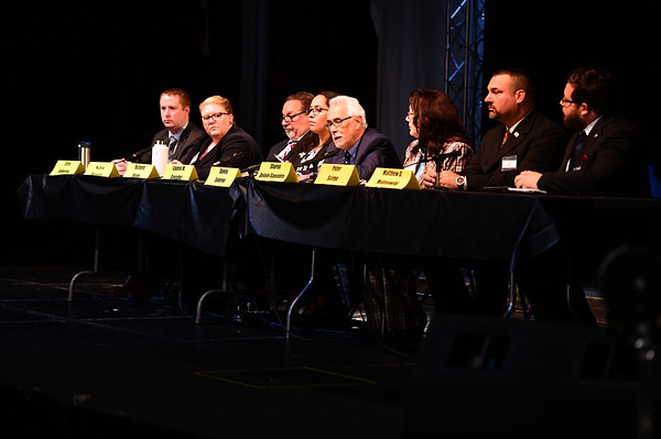10/19/2019 Mike Orazzi | StaffrThe New Britain Common Council and Mayoral Candidate Forum held at Trinity-On-Main in downtown New Britain on Saturday.