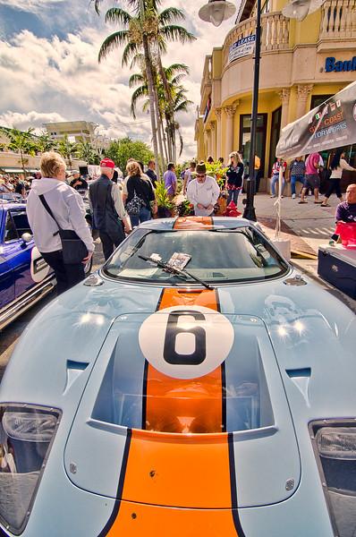 5th Ave. local car club show     Naples Ferrari Club