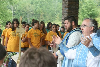 Diocesan Vicar Visits Camp Numbar, July 26, 2015