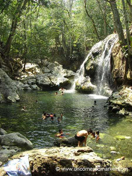 Finca El Paraiso Waterfall - Rio Dulce, Guatemala
