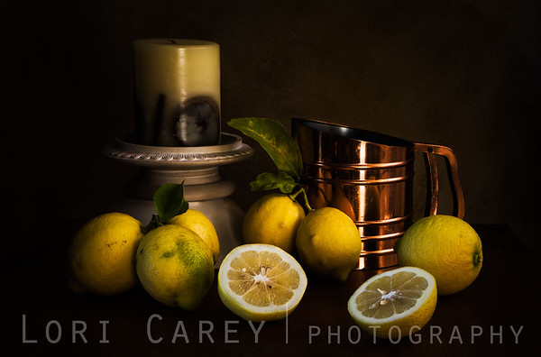When Life Hands You Lemons I, still life with lemons