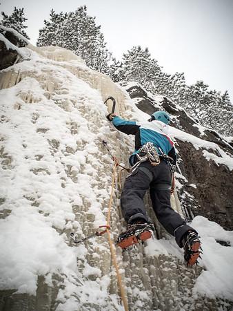 Ice-climbing at Haminalahti 16.1.2016